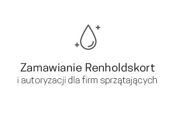Zamawianie Renholdskort i autoryzacja dla firm sprzątających