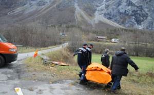 ewakuacja pod górą Mannen