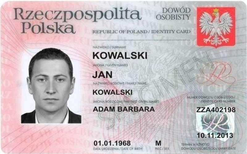 Znalezione obrazy dla zapytania Dowód osobisty polska